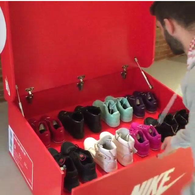 超大鞋盒做鞋柜?