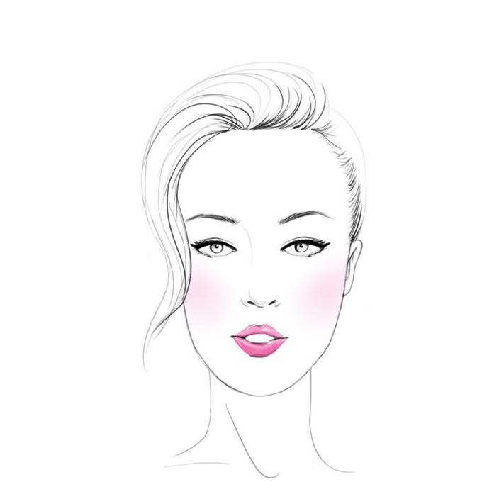 手绘模特脸线稿