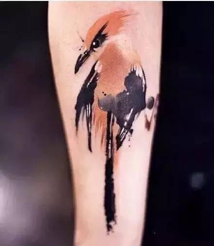 中国风水墨汉字纹身分享展示